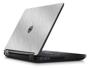 BRUSHED ALUMINUM Vinyl Lid Skin Cover fits Dell Latitude E5450 Laptop