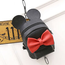 Womens Girls Minnie PU Leather Mini Backpack Rucksack School Shoulder Travel Bag