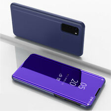 For Samsung Galaxy S20+ Plus S20 Ultra S-view Mirror Smart Flip Stand Case Cover