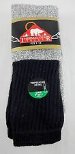 Thermal Tube Socks 3 Pairs Men's Gray Black Top Size 9 to 15 Acrylic Blend
