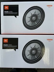 """2 JBL STAGE 1210D 1PR. 12"""" DVC Dual 4 Ohm Subwoofers 12-Inch Woofers 2000 Watts"""