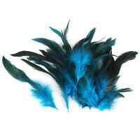 50 X Schöne natürliche Gans Hahn Federn Fascinator Kostüm-Handwerk D3I6