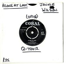 "SOUL.JACKIE WILSON.ALONE AT LAST / AM I THE MAN.UK ORIG 7"".VG+"