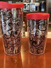 Lot Of 2 Tervis Tumblers, Red/black Colors, EUC