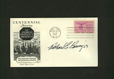 Richard E. Beringer * envelope SIGNED by artist & architect * FDC AIA autograph
