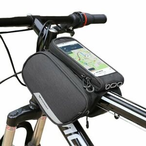 Fahrrad Halterung für iPhone 8 X Handy bis 6,5 Zoll Doppel Rahmentasche Bike Rad