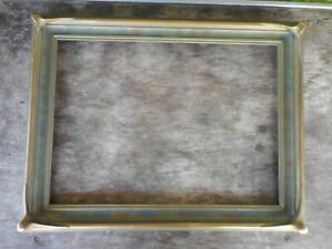 "Antique Arts & Crafts Era Batwing Wood & Gesso Picture Frame 17"" by 14"" NO Glass"