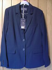 Jack Wills Ladies Nesbit Crepe Navy Blue Blazer Size 12 NEW (tags) RRP £98.50