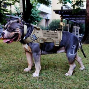 Tactical Dog Harness No Pull Vest Military Service Canine K9 Training Heavy Duty