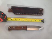 Wood Bear Knives/Blackburn Knife/01 steel/Desert Ironwood scales/leather