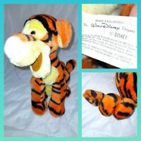 Rare Vintage Disney Tigger Sitting Spring Tail Soft Plush Toy 80s pooh