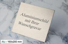 TÜRSCHILD 160x200mm - Namenschild Alu silber selbstklebend - mit WUNSCHGRAVUR