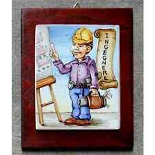 INGEGNERE - Quadro ceramica idea regalo originale compleanno pensione laurea