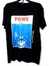 Mens Paws Cat Graphic T-Shirt Black Size M NWT