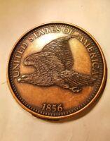 Grande 3 Polegadas Novidade Medalha//Moeda//coaster//Peso De Papel 1916 Mercury Dime Pewter D