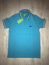 New Men Hugo Boss Green Polo T-Shirt Light Blue Size XXL