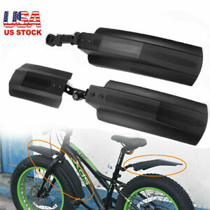 """2PCS 20""""/26"""" Bicycle Mud Flaps Splash Guard Fenders for Fat Tire Snow Front Rear"""