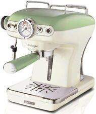 Ariete 1389 Espresso Machine Vintage Green/Beige/Blue, free shipping Worldwide