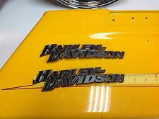 OEM Harley Fuel Gas Tank Set Emblems Touring Dyna Softail Sportster