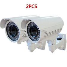 "2X 1/3"" Sony Sensor 1200TVL HD Outdoor Bullet Security CCTV Camera 72 IR Tube EK"