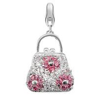 Dream Charms Damen Handtasche Anhänger echt Silber 925 rhodiniert mit Zirkonia