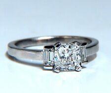 GIA Certified 1.01ct. Cushion cut diamond ring Platinum F/VS