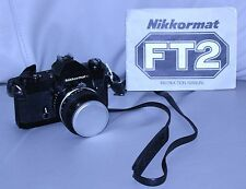 Vintage Nikon Nikkormat FT2 35mm Film Camera w/50mm 1:1.4 Nikkor Lens/cap MANUAL