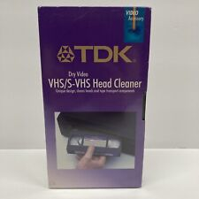 TDK Dry VHS S-VHS VCR Head Cleaner TCL-11 Brand New Sealed