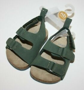 Carter's Green Crib Sandals Baby Girl Shoes New NWT Size: NB 0-3 Months Newborn