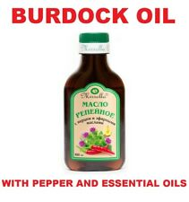 Burdock Root Oil with pepper and essential oils Natural Hair Loss Treatment