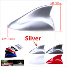Silver Shark Fin Style Aerial Auto Car Decor Top Roof FM/AM Radio Signal Antenna