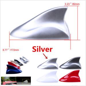 Silver Shark Fin Style Aerial Auto Car Decor Top Roof FM/AM Radio Signal Antenna