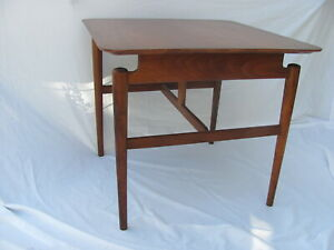 Finn Juhl for Baker Furniture Walnut Floating Occasional Table Label Mid Century