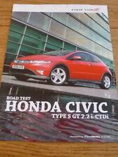 HONDA CIVIC  S ROAD TEST CAR BROCHURE  jm