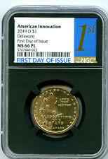 2019 D $1 DELAWARE NGC MS66 PL FDI PROOF LIKE INNOVATION DOLLAR FIRST DAY ISSUE