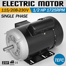 Electric Motor 1/2 hp, 1750RPM, 115 volts, 56C Frame, Single-Phase TEFC