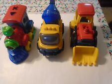 Take Apart Toy Locomotive, Bulldozer, and Cement Mixer Creative Toys