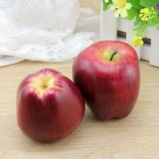 3pcs Decorative Fake Fruit Artificial Red Delicious Apple Realistic Home Decor