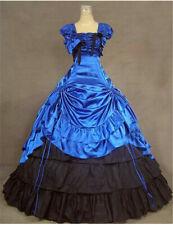 Lolita Women Victorian Bowknot Dress Reenactment Slim Ball Gown Party Dress
