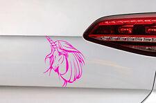 Einhorn Aufkleber Girl Auto Pferd Sticker JDM  Unicorn Decal Horse