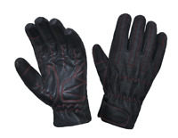 Mens Denim / Leather Motorcycle Gloves With DuPont™ Kevlar™ lined palm 8168