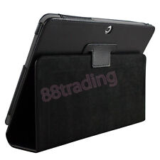 BLACK FLIP LEATHER CASE COVER for SAMSUNG GALAXY NOTE 10.1 N8000 N8010