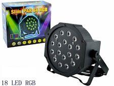 PAR LED RGB FARO 18 x 1 Watt ALTISSIMA LUNINOSITA DMX STROBO Wash PROGRAMMABILE