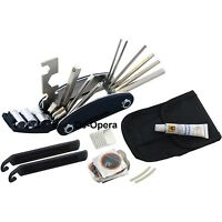 New Bike Cycle Bicycle Multi Tool Kit Carry Case Pump Tyre Puncture Repair Set
