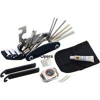 New Bike Cycle Bicycle Multi Tool Kit Carry Case Pump Tyre Puncture Repair Set