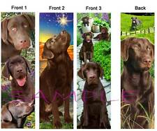 3 Lot-LABRADOR RETRIEVER BOOKMARK  CHOCOLATE LAB Brown Dog Book Card Figurine