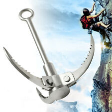 3 Claws Folding Climbing Grappling Hook Outdoor Grapple Survival Stainless Steel