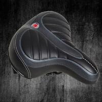 NEW Wide Big Bum Bike Bicycle Gel Cruiser Extra Sporty Soft Pad Saddle Seat US
