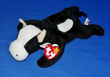 """Ty DAISY the Black and White Cow 4th Gen PVC 9"""" Beanie Baby 1997 NRMT"""