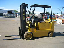 "HYSTER 1000LB CAP ELECTRIC FORKLIFT 42"" FORKS TRIPLE MAST 15' LIFT WORKS GREAT"